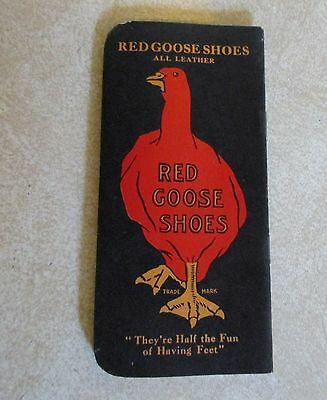 Vintage Red Goose Shoes Advertising Memo Pad - Friedman Shelby - NOS