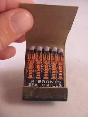 Vintage Antique Feature Matchbook Peroni's Sea Grills Boston MA Lobster Lobstah