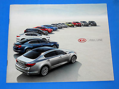 KIA Full Line 2015 Brochure Booklet Literature Glossy Color Car Auto Soul Optima