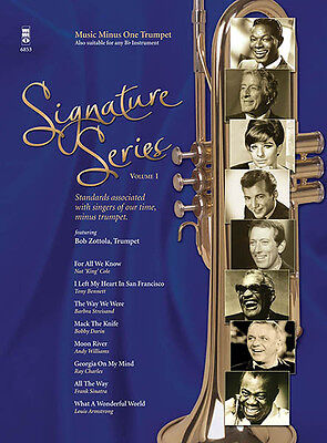Signature Series Vol 1 Trumpet Solo Sheet Music Minus One Play-Along Book CD NEW