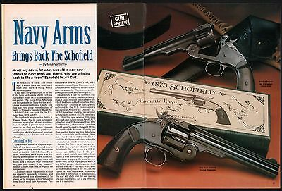 1995 NAVY ARMS Brings Back the 1875 Schofield Revolver 5-pg Article