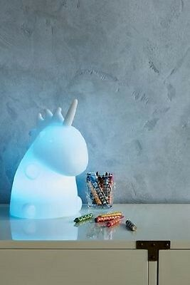 Nib Discontinued Anthropologie White Junior Unicorn Lamp By Smoko