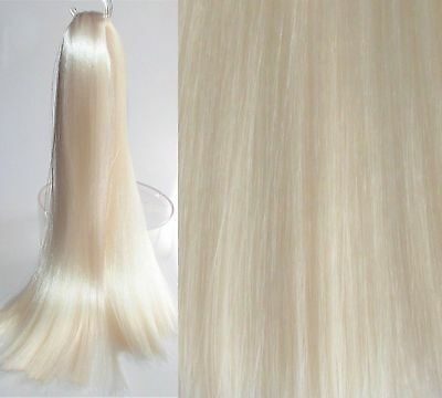 PURE WHITE Saran Doll Hair for Custom/Rerooting, Suit Ever After/Monster High