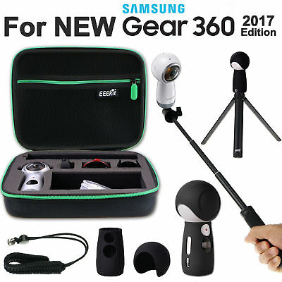 Accessories Case+Selfie Stick+Tripod Stand+Cover Skin for Samsung Gear 360 2017