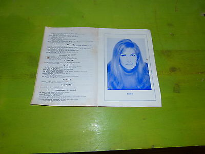 Dalida - Luis Mariano !!!! Rare Programe Foire Exposition Limoges 1966!!!!!!!!!!