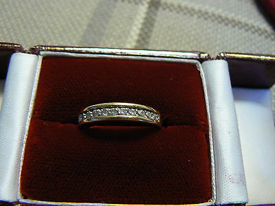 Beautiful 18Ct Gold And Diamond Channel Set Ring French  Ap35