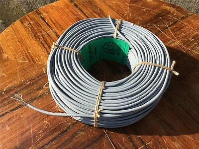 1958 SIEMENS microphone interconnect cable  shield 2phase 100 meter wire