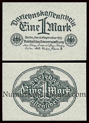 B-D-M Alemania Germany 1 mark 1922 Pick 61a SC UNC