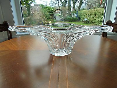 Vintage Retro 60s Vannes Art Glass Clear Crystal Free Form Centrepiece Bowl