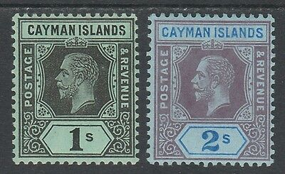 Cayman Islands 1912 Kgv 1/- And 2/-