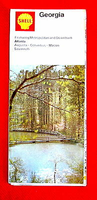 Georgia Shell Oil Highway Map 1972 t4c
