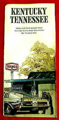 Kentucky Tennessee Texaco Road Map 1971 vintage t4c