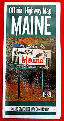 Maine Official Highway Map Gov. Kenneth M. Curtis 1969 t4c
