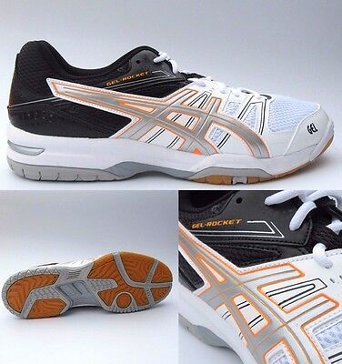Mens ASICS Gel Rocket 7 Trainers Shoes Size UK 12 Indoor court Volleyball Eu 48