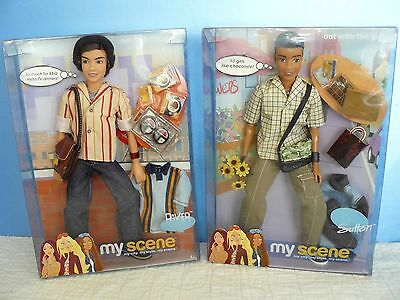 """MY SCENE ~ Out With the Girls RIVER & SUTTON 12"""" Boy DOLLS (2003) Mattel - NEW"""
