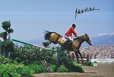 John Whitaker Hand Signed 12x8 Photo Team GB Olympics 1.