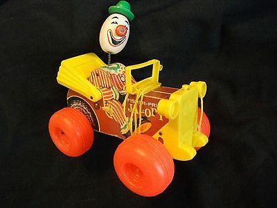 Vintage #724 JALOPY wood pull toy FISHER PRICE