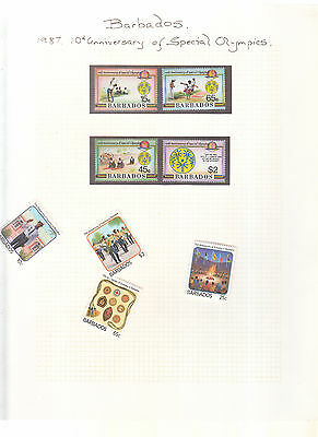Barbados 1987 Scouting, Synagogue And Special Olympics Umm/mnh Set
