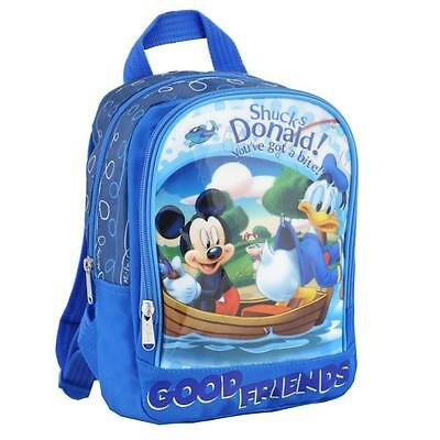 Micky Maus - Kinder Rucksack Mickey Mouse & Donald blau 25 x 23 x 10 cm