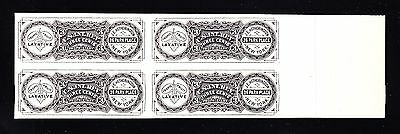 US RS121P3 3c Match and Medicine Block of 4 Plate Proof SCV $300+