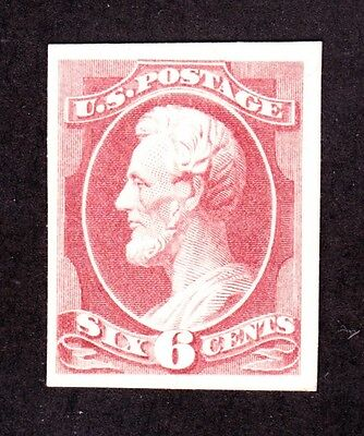 US 208P4 6c Lincoln Plate Proof on Card SCV $60 (002)