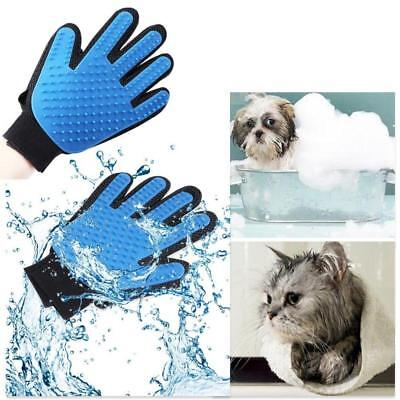 True Touch Deshedding Left Right Glove Gentle Pet Dog Cat Massage Grooming LC