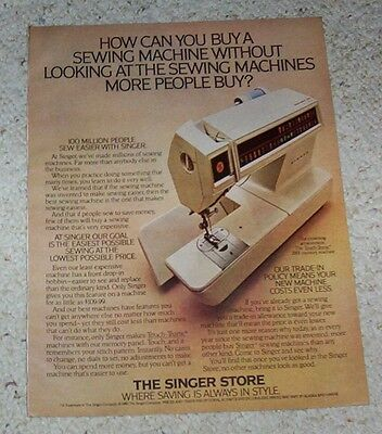 1980 ad page - Singer Sewing Machines vintage advert Print 1- PAGE ADVERTISING