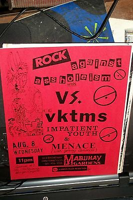 Versus VS Victims Impatient Youth Menace Ginger Coyote 1979 Mabuhay Show Flyer