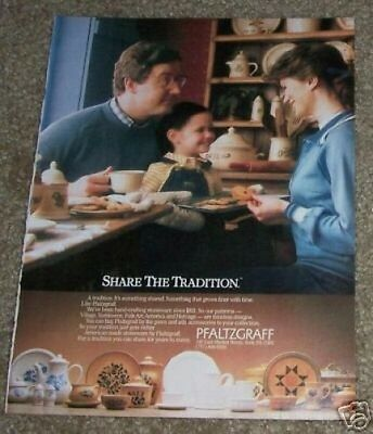 1984 ad page -  Pfaltzgraff stoneware dinnerware vintage Print ADVERTISEMENT
