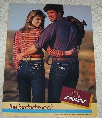 1982 ad page - Jordache designer Jeans CUTE GIRL & Guy vintage PRINT ADVERTISING