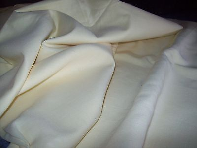 pale yellow vintage linen fabric 4 yards new