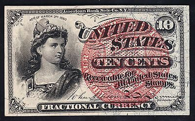 US 10c Fractional Currency FR1259 Ch CU