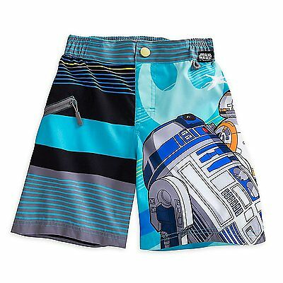 Disney Store Star Wars Swim Trunks Shorts Boy Size 7/8