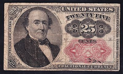 US 25c Fractional Currency FR1309 VF (Position-66E)