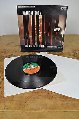 Dr Dre Ice Cube Natural Born Killaz 12 Inch Vinyl Record Single With Poster