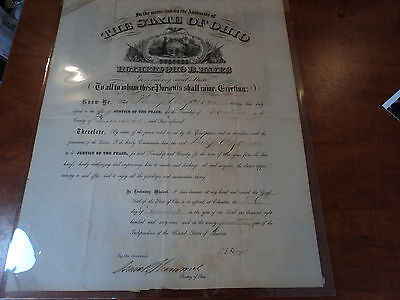 PRESIDENT Rutherford B. Hayes Signed AUTHENTIC Doc PSA DNA LOA & R.R.AUTION COA