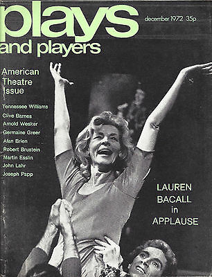 "Lauren Bacall ""APPLAUSE"" Tennessee Williams / Candy Darling 1972 London Magazine"