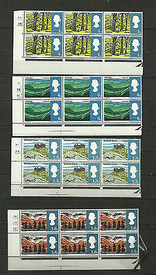 Great Britain 1966 Landscapes Ord Cylinder SG 689 692 MNH