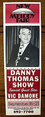 Rare Danny Thomas Poster - Vic Damone - Melody Fair - ORIGINAL - Buffalo, NY