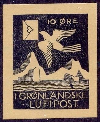 Greenland 1932 Udet Semi-Official Airmail Black on Buff Facsimile