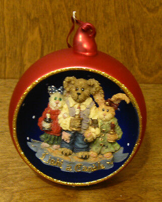 Boyds Resin Ornament #25723 CHANDLER, CONSTANCE, and FELICITY...A BRIGHTER WORLD