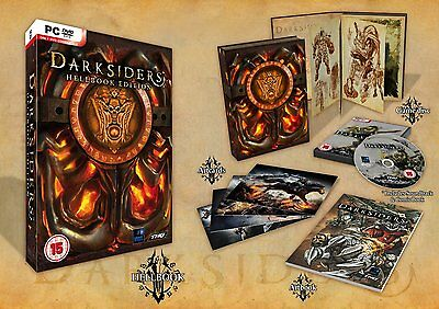Darksiders PC CD Hellbook Collectors Edition+Art Postcards+Guide