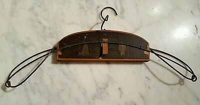 Antique 1897 Patent Wood Wire The Belmar Wardrobe System Label Intact