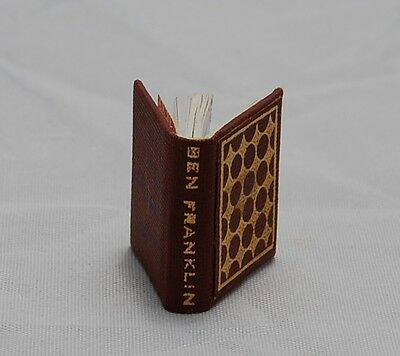 Vtg Barbara Raheb Dollhouse Miniature Book Ben Franklin 1st Printing 1977 LE