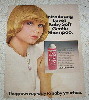 1975 ad page - Love's Baby Soft CUTE GIRL 1-page vintage shampoo PRINT ADVERT