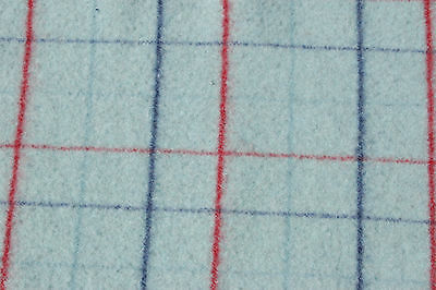 Primitive Felted Red Blue Plaid Wool Blanket Piece