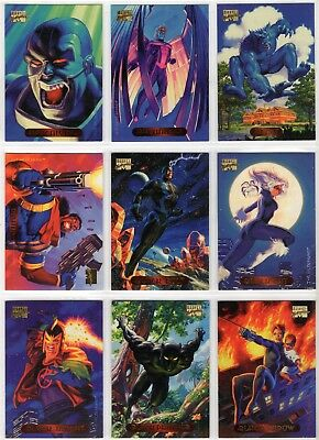 1994 Marvel Masterpieces 1-140 Card Complete Set Fleer Skybox