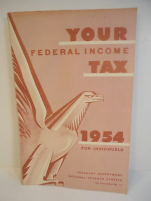 1954 IRS Federal Tax Return INSTRUCTION BOOKLET 184 pgs wi 1040 forms Vintage