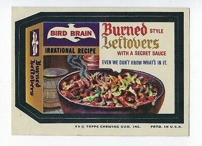 1974 Topps Wacky Packages 11th Series 11 BIRD BRAIN LEFTOVERS ex+