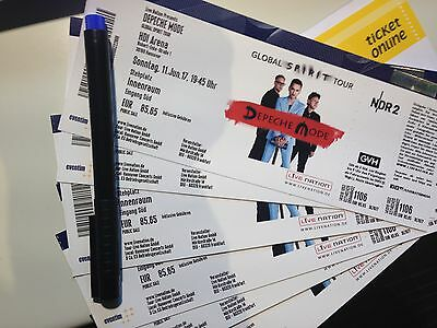 tickets depeche mode in hannover innenraum noch 4 stehplatz karten eur 44 00. Black Bedroom Furniture Sets. Home Design Ideas